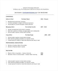 sample copy editor resume sample chronological resume template