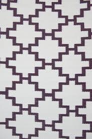 Woven Plastic Outdoor Rugs by Indoor Outdoor Rug Geometric Italian Plum U0026 White U2013 Allissias Attic