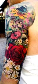 thieving genius photo tattoos flower sleeve