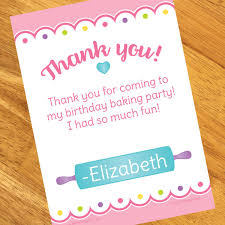 personalized thank you cards cooking party personalized thank you notes