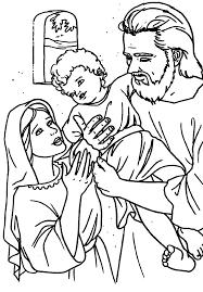 Holy Family Coloring Page joseph holding jesus holy family at nazareth catholic