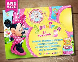minnie mouse clubhouse invitation mickey minnie daisy donald