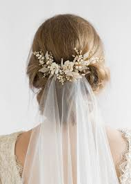 bridal hair floral wedding hair comb tania maras bespoke wedding