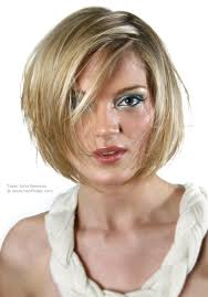 johnbeerens hairstyler short bob hairstyle with an irregular side part and strands of