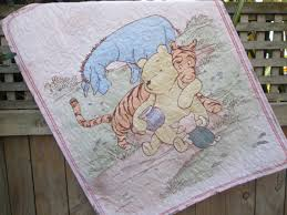 Classic Winnie The Pooh Nursery Decor Baby Quilt Classic Winnie The Pooh Pink Tigger Eeyore