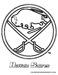buffalo sabres logo nhl coloring page daddy u0027s pins pinterest