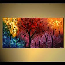Abstract Landscape Painting by Landscape Painting Abstract Landscape Painting Colorful Large 4414