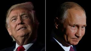 by linking trump with hate groups clinton spotlights the russia the cloud over the trump white house bbc news