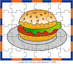 printable jigsaw puzzle for kids burger jigsaw