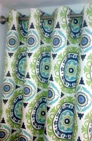 Navy And Green Curtains Grommet Top Curtains One Pair In Waverly Modern Essentials