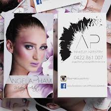 looking for makeup artist feminine modern business card design for angela pham by