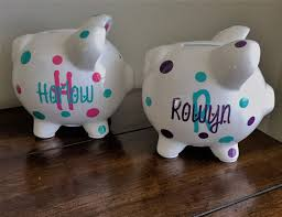 Personalized Silver Piggy Bank Personalized Piggy Bank Kids Piggy Bank Baby Shower Gift Baby