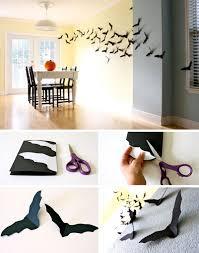 Diy Halloween Wall Decorations 25 Easy And Cheap Diy Halloween Decoration Ideas Bats Homemade