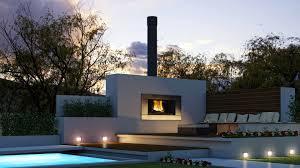 modern outdoor fireplace fireplace ideas