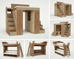 Modern Bunk Bed With Desk Casa
