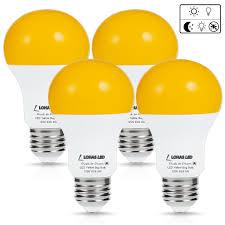 led light bulb with dusk to dawn sensor lohas led dusk to dawn sensor light bulb 40w equivalent a19 yellow