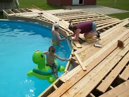 Plans For Sale Outdoor Backyard Above Ground Pools Free Deck Plans For Above