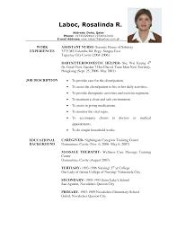 Babysitter Resume Template Caregiver Babysitting Job Position Resume Sample Vinodomia