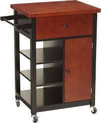 fingerhut alcove rolling kitchen cabinet cherry black