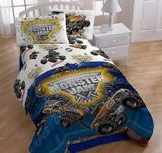 Monster Truck Bed Set Boys Monster Jam Trucks Full Double Size Bed Comforter Sheets