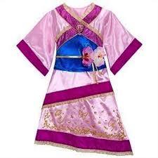 amazon com disney store mulan costume dress xs 4 for toddler