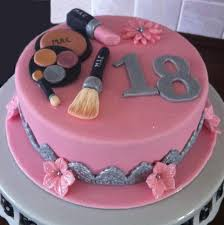 makeup cake maybe with only fondant for the makeup and a monogram