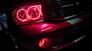 Dodge Ram 3500 Truck Colors - 2006 dodge ram dual color red white led halo kit installed by