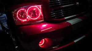 2008 dodge ram 1500 led fog lights 2006 dodge ram dual color red white led halo kit installed by