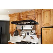 Hanging Pot Rack In Cabinet by Kitchen Accessories Country Kitchen Hanging Pots Rack Stainless