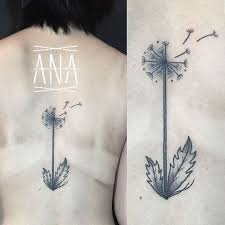 dandelion tattoo by ana work design of tattoosdesign of tattoos