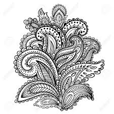 beautiful indian paisley ornament for your business royalty free
