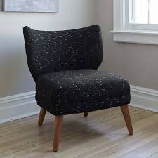 retro wing chair west elm