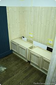 Building A Kitchen Bench - building a mud room bench with kitchen cabinets so inexpensive