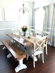 farm table with bench bench for dining table with a back farm table with bench benches