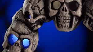 light up skull wreath halloween decorations shindigz youtube