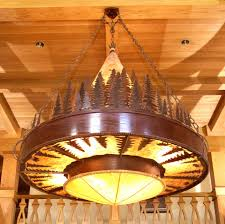 country style chandelier u2013 frontier iron works