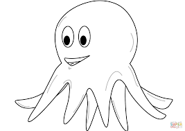 funny octopus coloring page free printable coloring pages