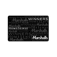 marshall gift card send a winners homesense and marshalls gift card anywhere in