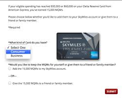 adding 15 000 delta mqms to your account points miles u0026 martinis