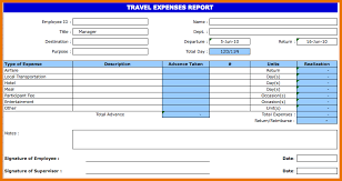 Microsoft Excel Report Templates Travel Expense Report Template Travel Expenses Report Template Png