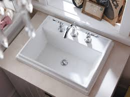 kohler k 2991 8 0 tresham rectangle self rimming bathroom sink