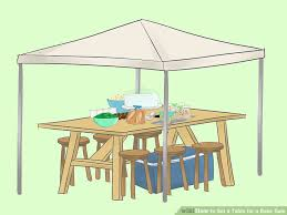 How To Set A Table How To Set A Table For A Bake Sale 13 Steps With Pictures