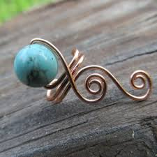 wire ear cuffs aventurine copper wire simple spiral ear from thehempchick on