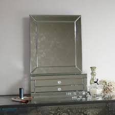 Table Top Vanity Mirror Large Tabletop Vanity Mirror With 2 Drawers Melody Maison