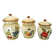 designer kitchen canister sets home design inspirations designer kitchen canister sets part 39 dlusso designs ceramic fruit 3 piece kitchen canister