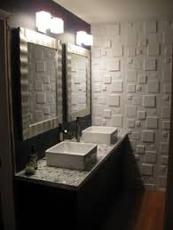 ikea bathroom ideas pictures from houzz two ikea mirrored medicine cabinets are hung side by