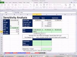 Sensitivity Analysis Excel Template Excel Finance Class 89 Sensitivity Analysis For Flow Npv