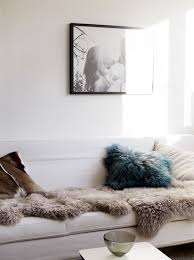 Sofa Blankets Throws White Walls White Sofa Skin Rug Throw Pillows Home