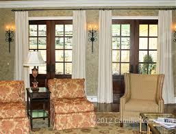 Patio Door Curtain Rod by Drapery Ideas For French Doors Door Decoration