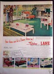 vintage furniture ads of the 1950s